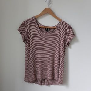 Burnt Orange Stripped T-shirt